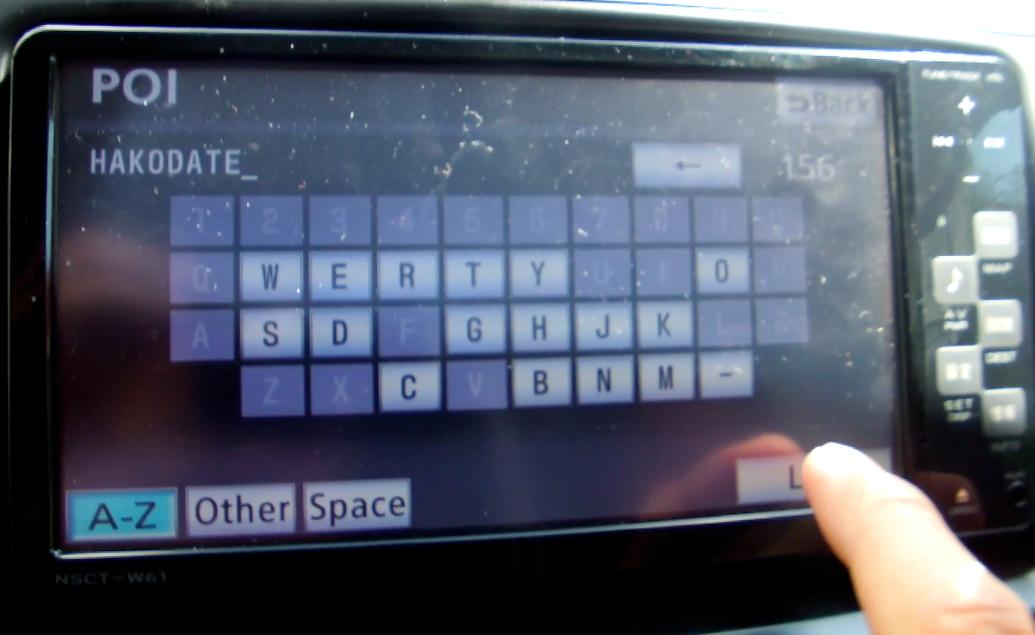 TOYOTA GPS MAP สามารถใช้ภาษาอังกฤษค้นหา POI